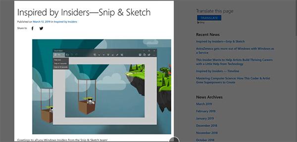 Sử dụng Snip & Sketch chụp ảnh màn hình máy tính