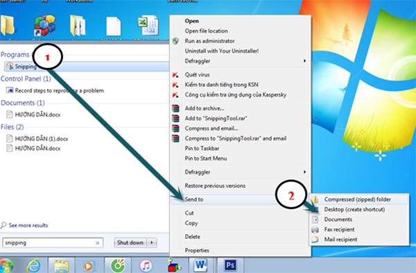 Snipping Tool tích hợp sẵn trên Windows