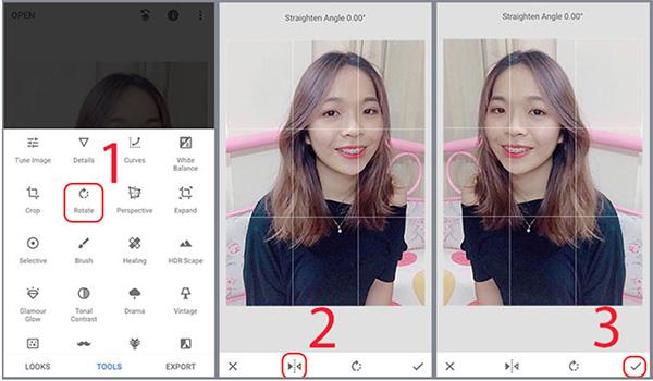 Sử dụng ứng dụng từ bên thứ 3 để chỉnh ảnh selfie bị ngược trên Android