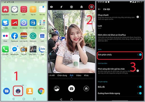 Chế độ Ảnh phản chiếu giúp khắc phục tình trạng chụp ảnh bị ngược trên Android