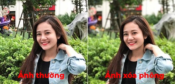 Sự khác biệt giữa ảnh chụp thường và ảnh chụp xóa phông