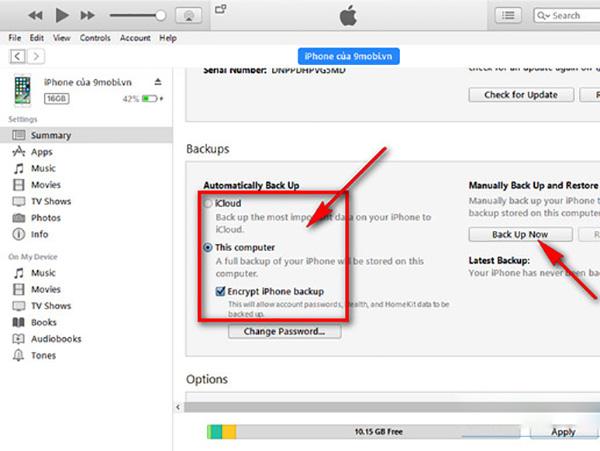 Chuyển ảnh từ iPhone cũ sang iPhone mới bằng iTunes