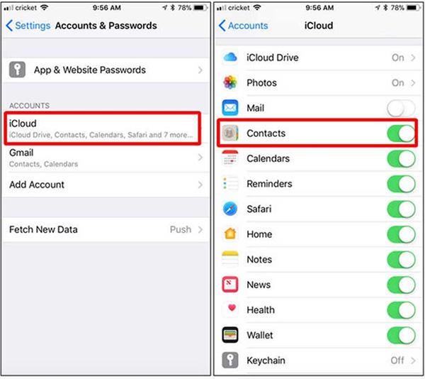Chuyển danh bạ iPhone sang Android bằng iCloud