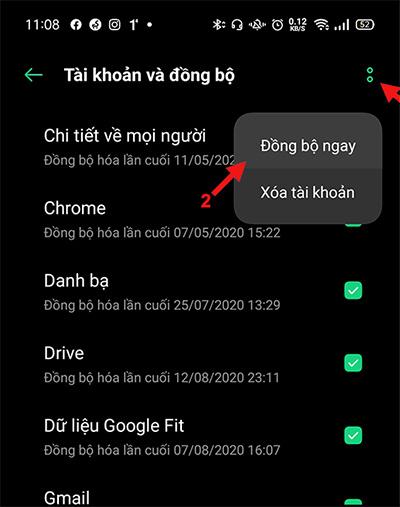 Đồng bộ tài khoản Gmail trên thiết bị Android (2)