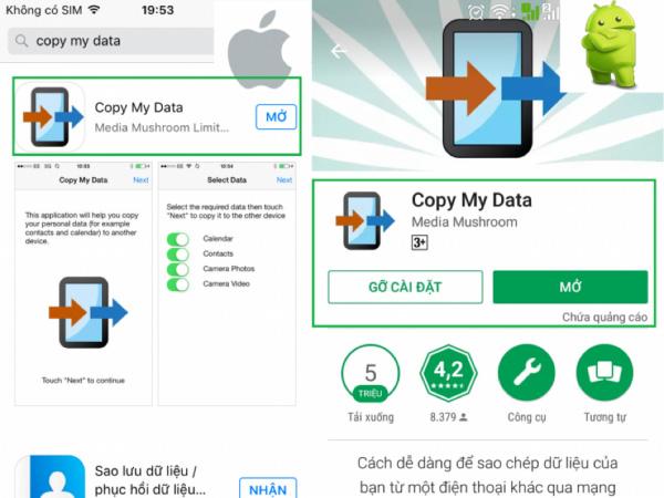 Tải ứng dụng Copy My Data về iPhone và Android