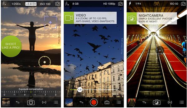 Ứng dụng chụp ảnh đẹp trên iPhone ProCamera