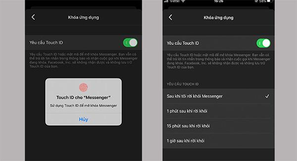 Khóa mess trên iPhone bằng tính năng Khóa ứng dụng trên Messenger (3)