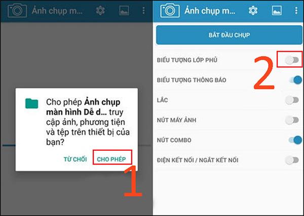 Chụp màn hình Andorid bằng ứng dụng Screenshot Easy