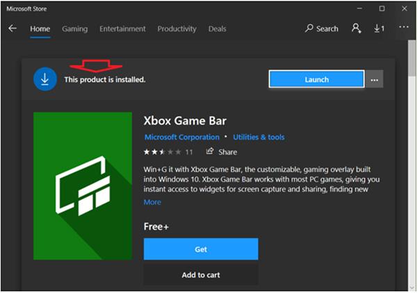 Lưu ảnh vào một tập tin trong thư mục Game Bar