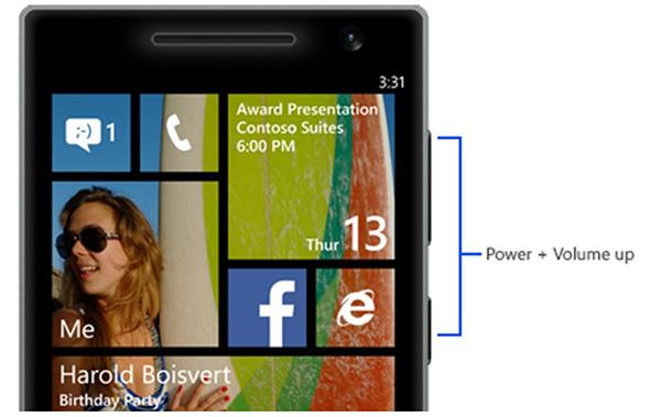 Cách chụp màn hình điện thoại Windows Phone