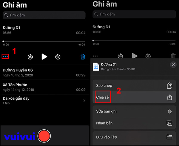 Gửi file ghi âm qua Zalo trên iPhone (1)