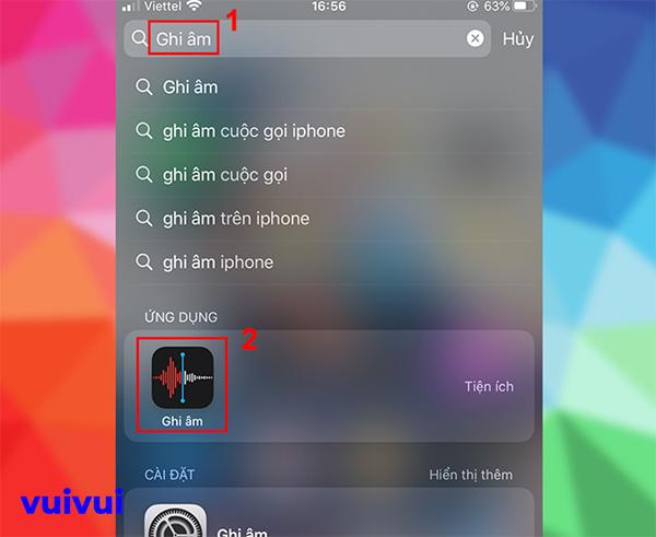 Gửi file ghi âm qua Zalo trên iPhone