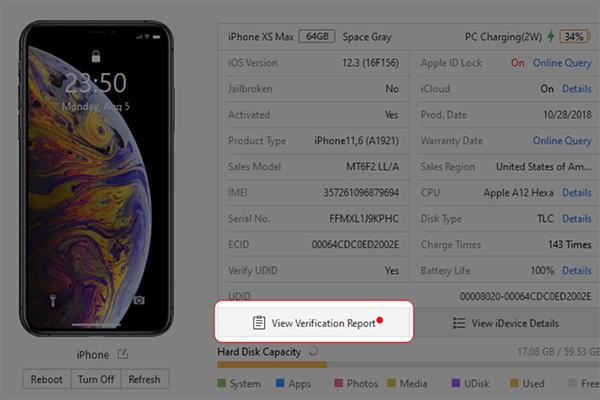 Nhấn chọn View Verification Report để xem chi tiết