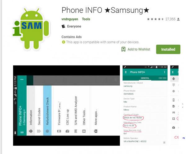 Cách kiểm tra số lần sạc pin Android bằng phần mềm Phone INFO