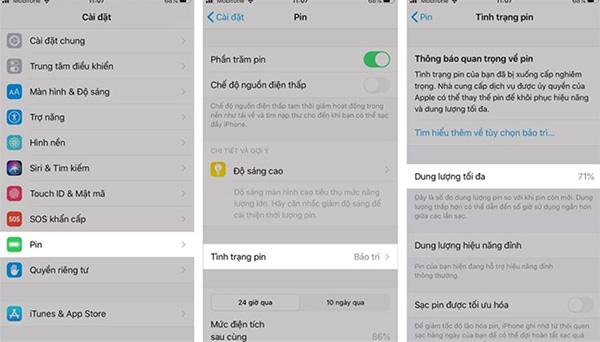 Cách kiểm tra mức độ chai pin trên iPhone