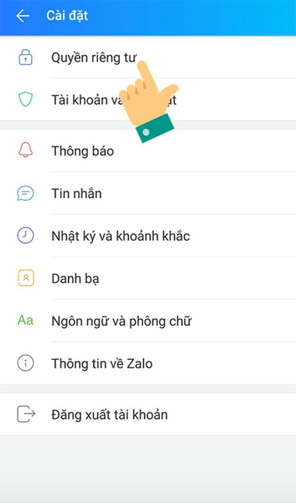 Cách tắt thông báo sinh nhật trên Zalo từ điện thoại (1)
