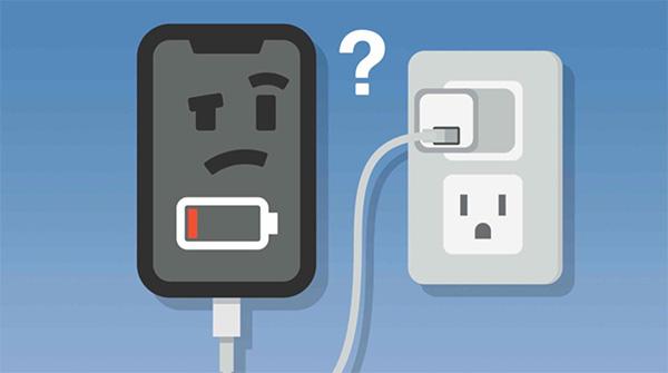 Củ sạc, cáp sạc có vấn đề khiến dòng điện không đi vào điện thoại