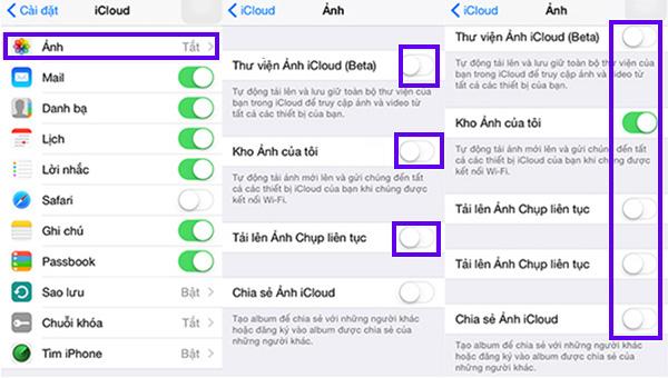 Cách sao lưu hình ảnh từ iPhone lên iCloud