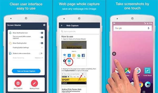Phần mềm chụp ảnh màn hình Android Screen Master 5