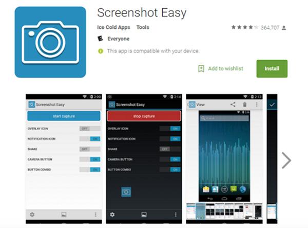 Phần mềm chụp ảnh màn hình Android Screenshot Easy