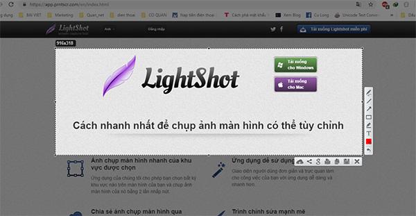 Phần mềm chụp ảnh màn hình máy tính Lightshot