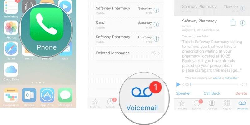 Phần mềm ghi âm cuộc gọi trên iPhone Voicemail