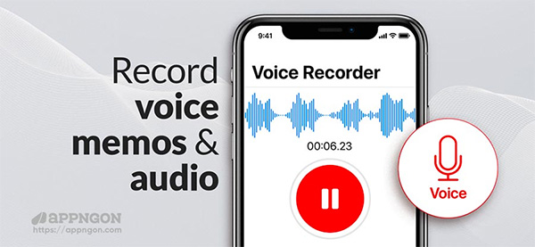 Sử dụng Call Recorder & Voice Memo