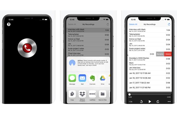 Phần mềm ghi âm cuộc gọi trên iPhone Recorder Mini