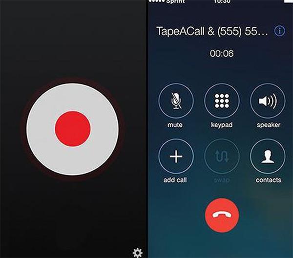 Phần mềm ghi âm cuộc gọi trên iPhone TapeACall