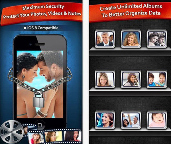 PHần mềm giấu ảnh trên iPhone Secret Photo Album Hide Photo