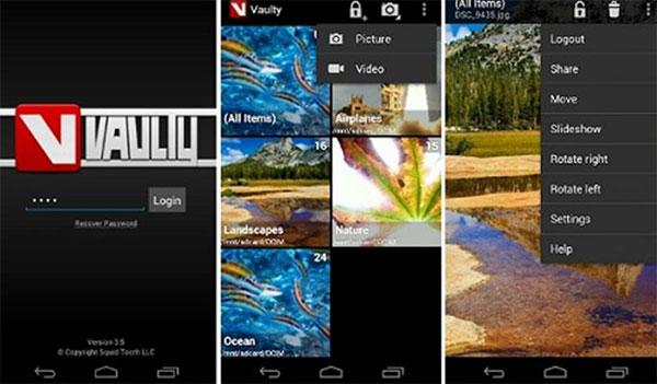 Phần mềm giấu ảnh trên iPhone Vaulty