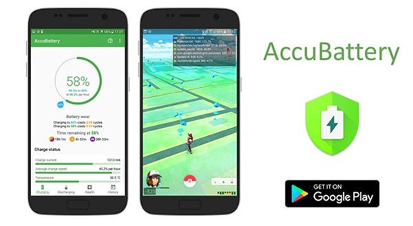 Phần mềm quản lý pin Android AccuBattery - Pin