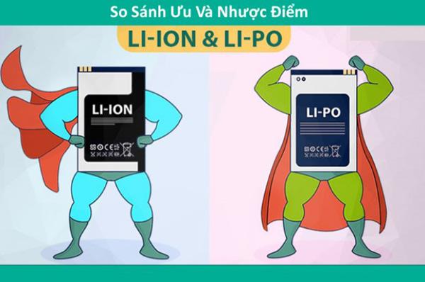 So sánh 2 loại pin Li po và Li ion