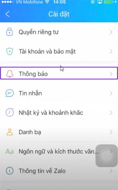 Cách tắt thông báo tin nhắn trên Zalo (1)