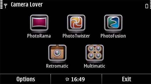 Ứng dụng chụp ảnh Camera Lover Pack hỗ trợ tính năng chụp ảnh qua gương cầu lồi thú vị