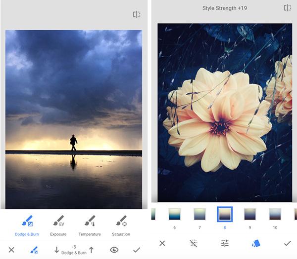 Ứng dụng chụp ảnh chuyên nghiệp cho Android Snapseed được phát triển bởi Google