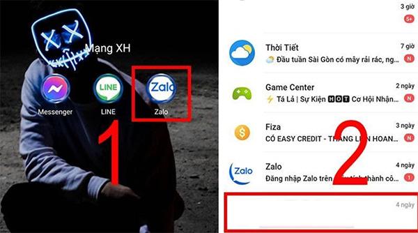 Mở ứng dụng Zalo trên điện thoại