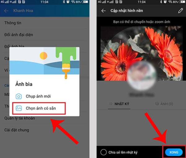 Cách thay đổi ảnh bìa Zalo từ điện thoại (2)