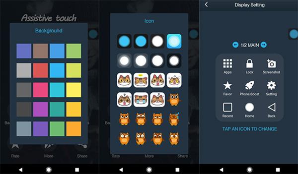 Khóa màn hình Android bằng tiện ích Assistive Touch