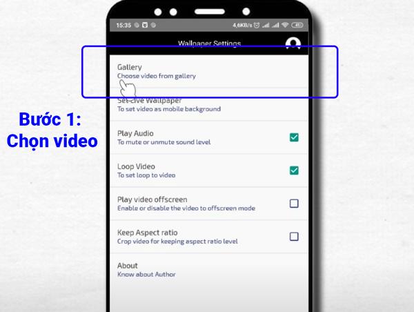 Cài màn hình nền video cho Android