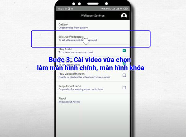 Cài màn hình nền video cho Android (1)