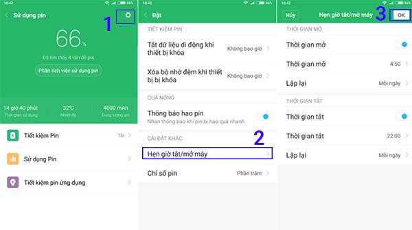 Cách hẹn giờ tắt mở trên điện thoại Xiaomi (1)