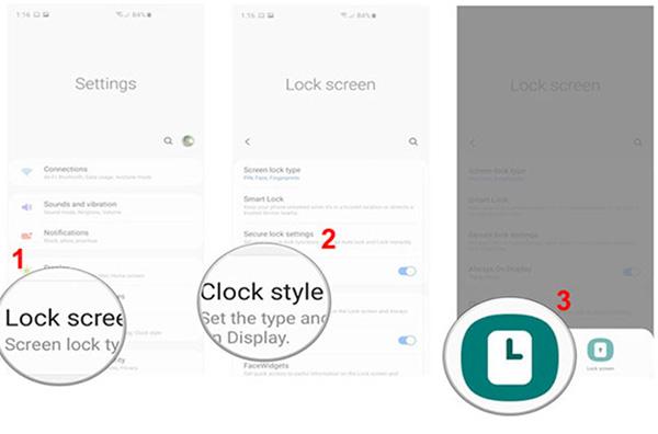 Bạn có thể tùy chọn kiểu hiển thị, màu sắc cho đồng hồ tại màn hình khóa