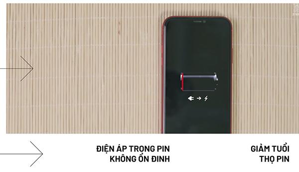 Không nên sử dụng pin điện thoại cạn kiệt