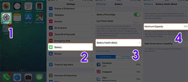 Cách kiểm tra độ chai pin iPhone qua tính năng Battery Health
