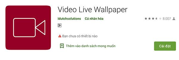Phần mềm Video Live Wallpaper