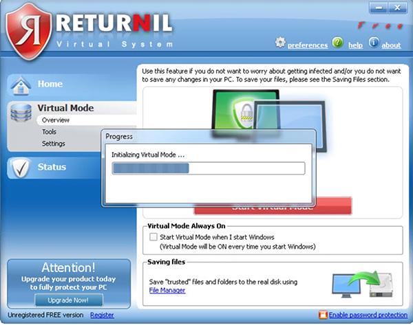 Phần mềm Returnil Virtual System