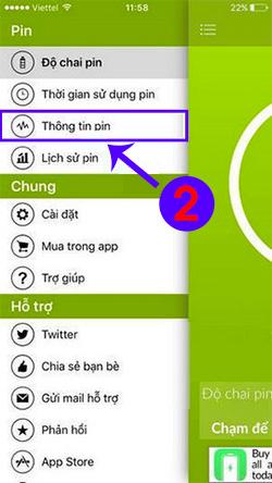 Kiểm tra độ chai pin iPhone bằng Battery Care (1)