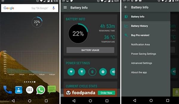 Ứng dụng tiết kiệm pin Android Battery Widget Reborn