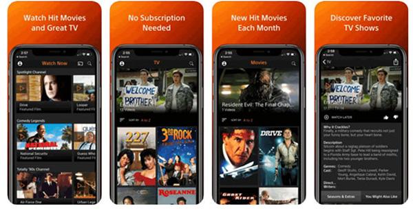 App xem phim Offline Crackle cho iPhone